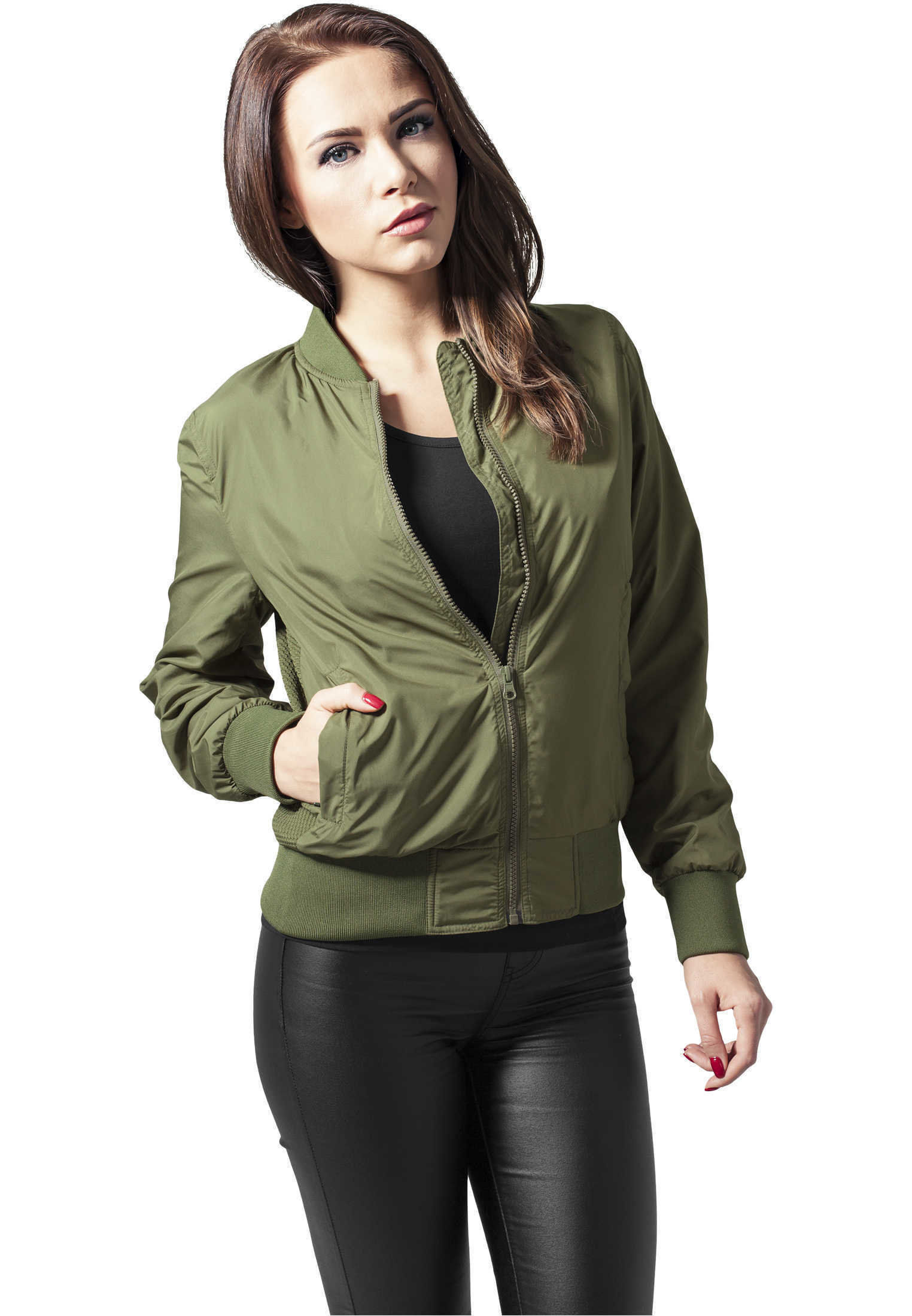 Ladies-Light-Bomber-Jacket-Urban-Classics-Streetwear-Giacca-Donna