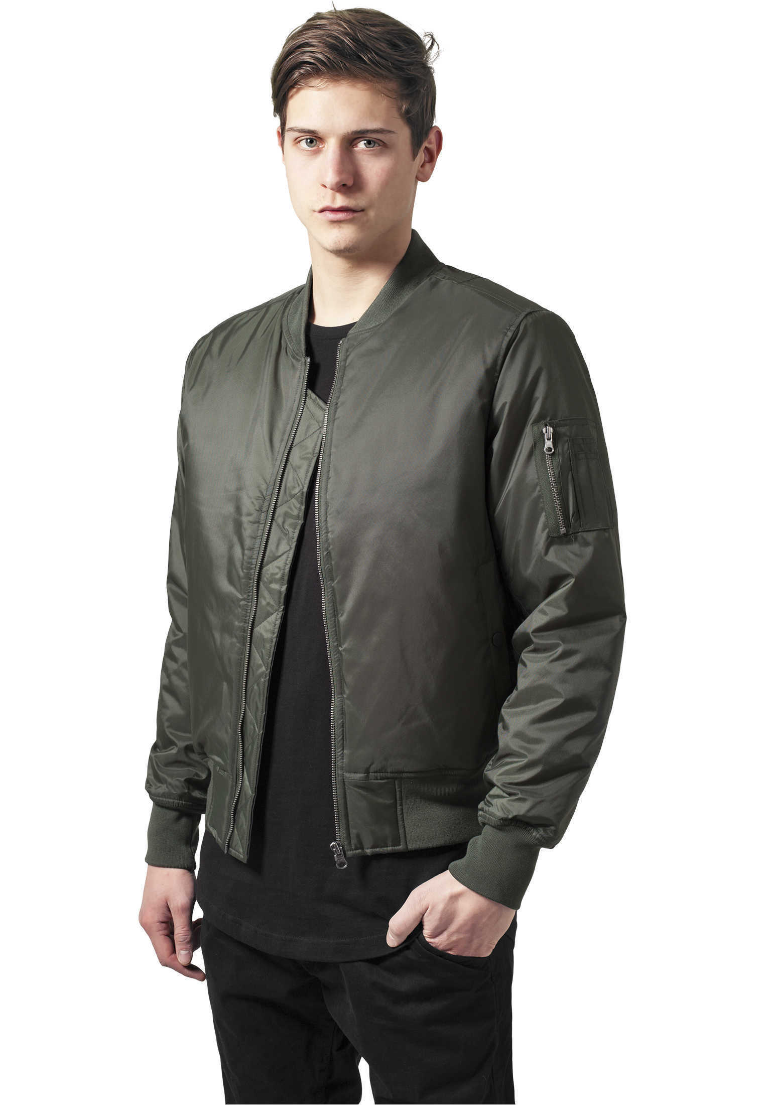 basic bomber jacket urban classics streetwear giacca uomo. Black Bedroom Furniture Sets. Home Design Ideas